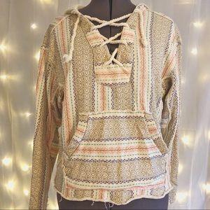 Billabong Boho Lace up Sweatshirt